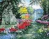 TWYYDP Puzzel Für Erwachsene 1000 Teile Gartenbrunnen Statue Geburtstagsgeschenk