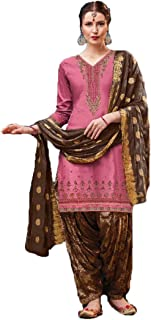 Zarina Fashion Women's Havy Cotton with Embroidery Work Indian Full Stitched Salvar Suite