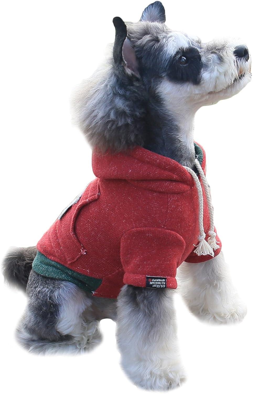 Gyapet Dog Pet Cat Coat Shirt Sweater Cloth Hoodie Puppy Warm for Winter Cotton Medium