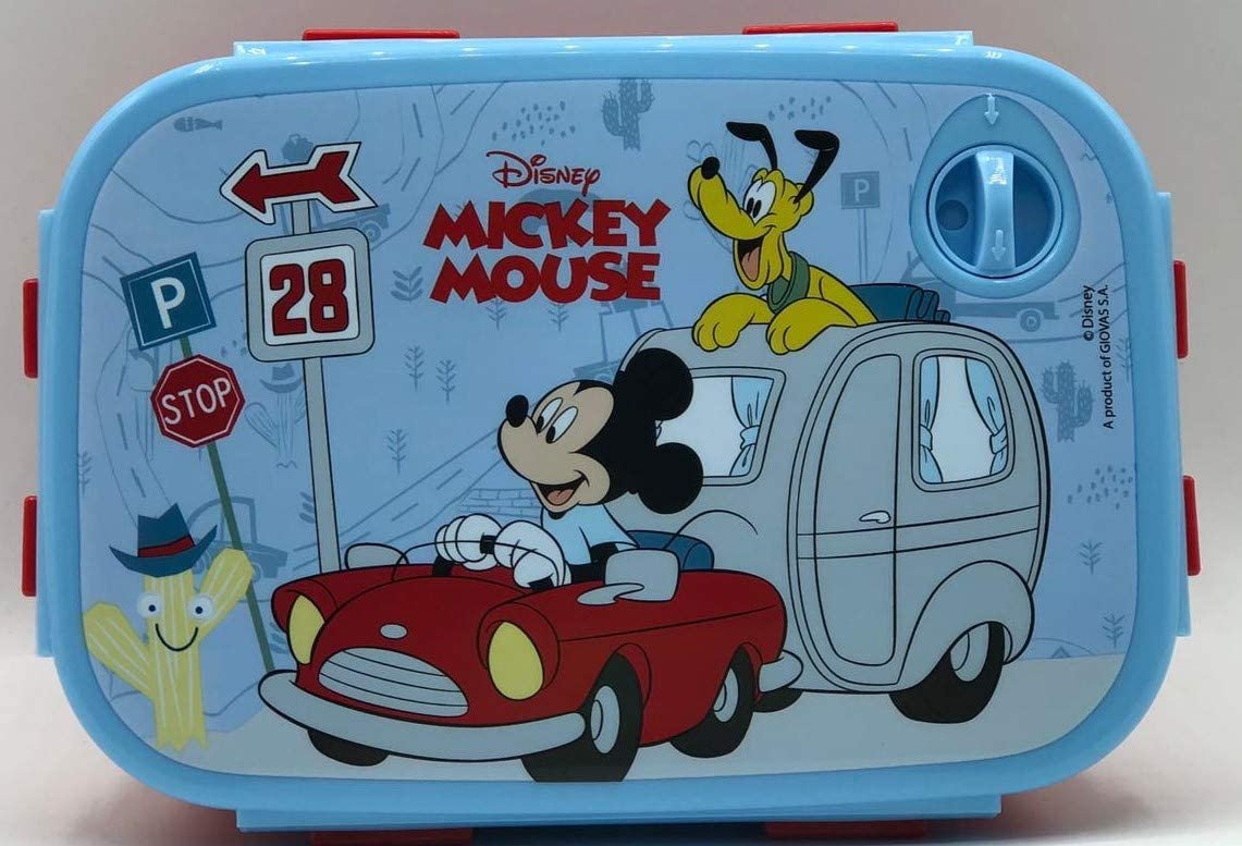 Gym Sandwichera Fiambrera rentagula de un Compartimiento Mickey Mouse