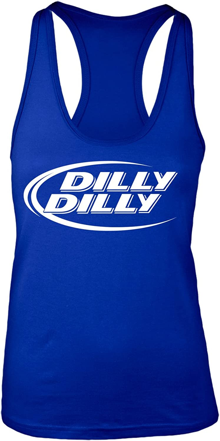 Manateez Women's Budlight Dilly Dilly Commercial Racer Back Tank Top