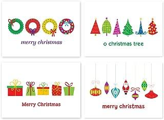 Assorted Christmas Postcards - 4 Fun Holiday Designs - 4
