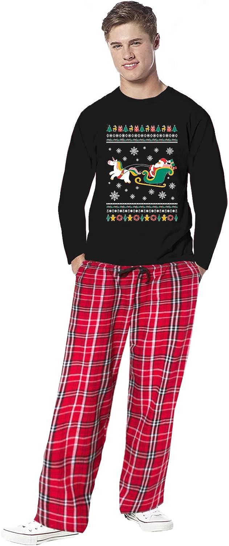 Awkward Styles Family Christmas Pajamas for Men Santa and Xmas Unicorn Sleepwear Mens Pajama Sets