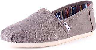 حذاء نسائي من TOMS من Core Classics بدون رباط، رمادي قماش رمادي، US 9
