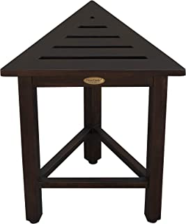 DecoTeak FlexiCorner Triangular Teak Modular Stool, Table