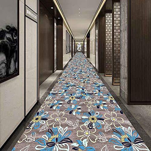 Modern Floral Flowers Grey Hallway Runner/Area Rug - 60/80/90/100 / 120cm Extra lang tapijt,1.4 * 3m