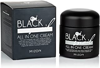 Mizon Black Snail All In One Cream, Siyah Salyangoz & Siyah Bitki Ekstreli Premium Bakım Kremi, 75 ml