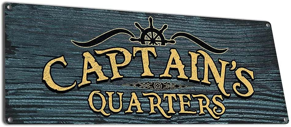 My Beer Indefinitely Cozy Captain's Quarters free shipping 6 x Bo Metal Inch 16 Sign