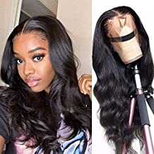 Lace Front Wigs Human Hair for Black Women 150% Density 10A Brazilian 13×4 Viennois Body Wave Human Hair Lace Front Wigs Pre Plucked with Baby Hair Natural Hairline Wigs(14inch)