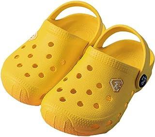 FANTURE Kids Garden Clogs Boys Girls Cute Slip-On Sandals Lightweight Beach Pool Sandals Water Shoes Sneakers Breathable M...