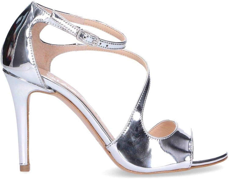 DI LUNA Luxury Fashion Damen 2379Silber Silber Sandalen   Frühling Sommer 19