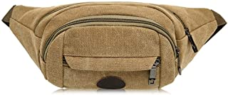 Men's and Women's Sports Leisure Waist Pack, Multifunction Large Capacity Waist Bag Crossbody Chest Bag Place Various Documents for Cycling Sport Travel, Mountain Climbing (Color : Khaki)