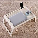 Dongbin Frühstück Fach Plastikbehälter Beine Klappbett Klappablagetisch Laptop Bett Tablet Service Kniend Lesen Sofa Tisch Tray,Weiß - 2