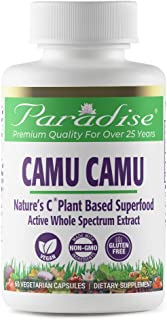 Paradise Organic Camu Camu - Nature's C - 20% Vitamin C - Concentrated Extract - 100% Naturally Extracted - No Harsh Chemi...