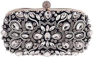 Fine Bag/Women Clutches Crystal Evening Bag Clutch Purse Bags Special Occasion Evening Handbags Banquet Bag (Color : Black, Size : One Size)