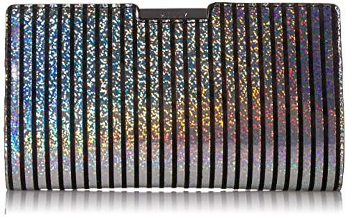 MILLY Metallic Stripe Small Frame Clutch