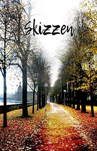 Skizzen: Skizzenbuch für tägliche Skizzen und Zeichnungen | Für Künstler und Kreative | Format 5,5 x 8,5 Zoll | 151 Seiten zum Zeichnen