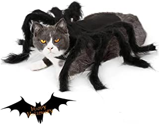 CheeseandU Pet Spider Halloween Costume 2019 New Version Dog Cat Scary Furry Giant Spider Harness Costume Cool Fancy Party...
