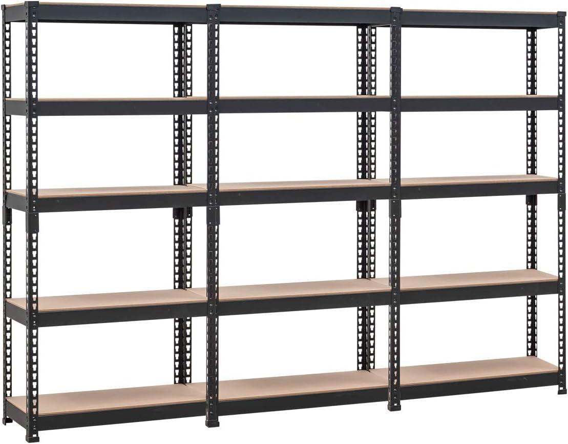 HOMEDANT 現品 5-tier Metal Shelving Unit Storage Adjustable Garage 贈物 Ut