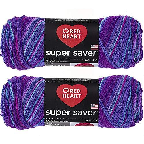 Bulk Buy: Red Heart Super Saver (2-Pack) (Grape Fizz, 5 oz Each Skein)