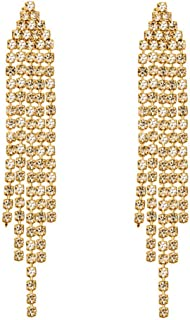 Best rhinestone tassel drop earrings Reviews
