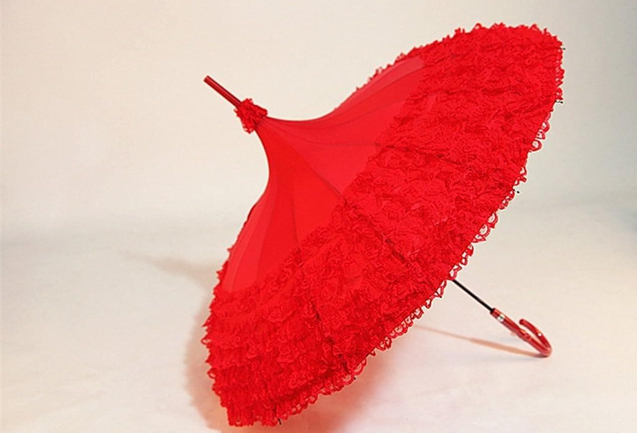 手順応じる明らかにするレースパゴダ結婚式の傘ストレート傘パラソル16K風と雨 ズトイビー