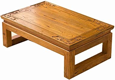 C-J-Xin Wooden Furniture, Firm Support Thick Desktop End Table Small Apartment Parlor Reception Table Living Room Low Table f