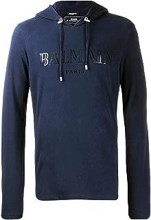 Balmain Luxury Fashion Mens SH11006I1286UB Blue T-Shirt | Fall Winter 19