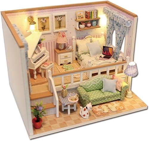 LINAG Puppenhaus H er Minipuppen Mini-Szene Zuhause Einrichtung Spielzeug M l DIY Village Zubeh Szenenspielzeug Geb emodell Geburtstagsgeschenk Doll-6124