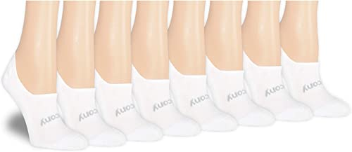 Saucony Women's 8-pair No Show Cushioned Invisible Liner Socks