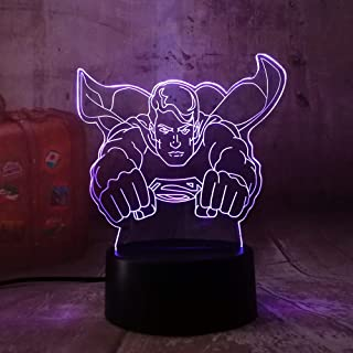 Hot Sale DC Superman Toys Cool Superhero 3D Night Light LED 7 Colorful Change RGB Table Lamp Desk Light for Baby Creative Gift Luminaria (Superman)