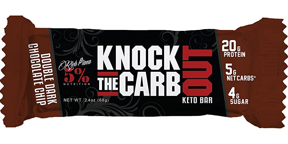 Rich Piana 5% Nutrition KTCO Keto Bar (10 Count Caddie) (Double Dark Chocolate Chip)