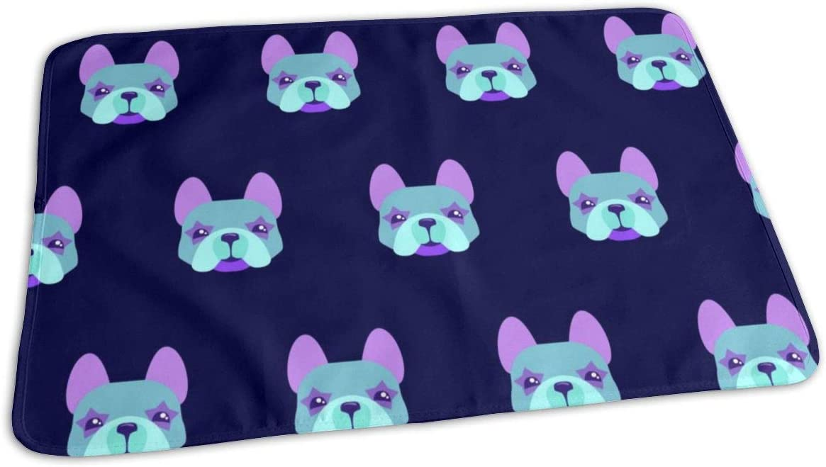 UAJAR French Bulldog Faces Pattern Free shipping anywhere in the nation Bombing free shipping Baby Changing Co Pad Reusable