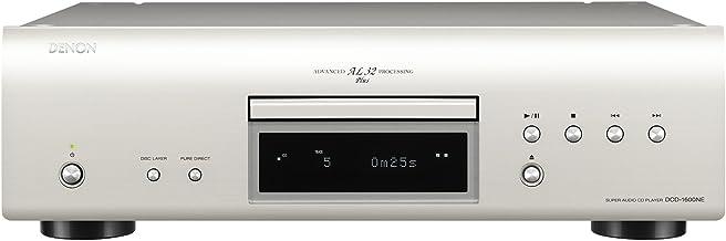 Denon DCD-1600NE HiFi CD player Plata - Unidad de CD (32-bit/192kHz, 119 dB, 0,001%, 112 dB, 2-50000 Hz, CD de audio, DVD-Audio)
