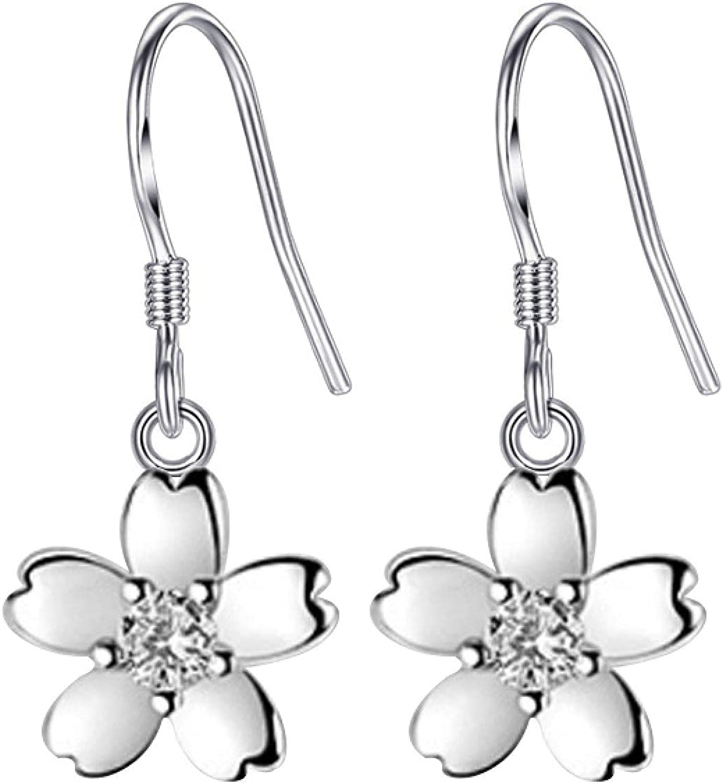 Rose Flower Temperament Earrings Female Simple Cute Sweet Ear Hook Small Earring Ear Jewelry
