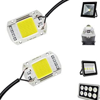 2PCS LED COB Chip 50W 110V White Light Engine Integrated Smart IC Driver for floodlight