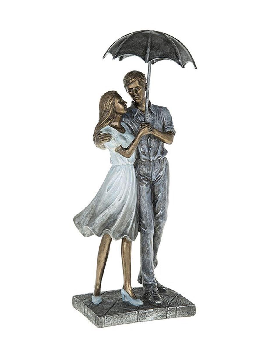Rainy Day Romantic Embrace Figures Sculpture