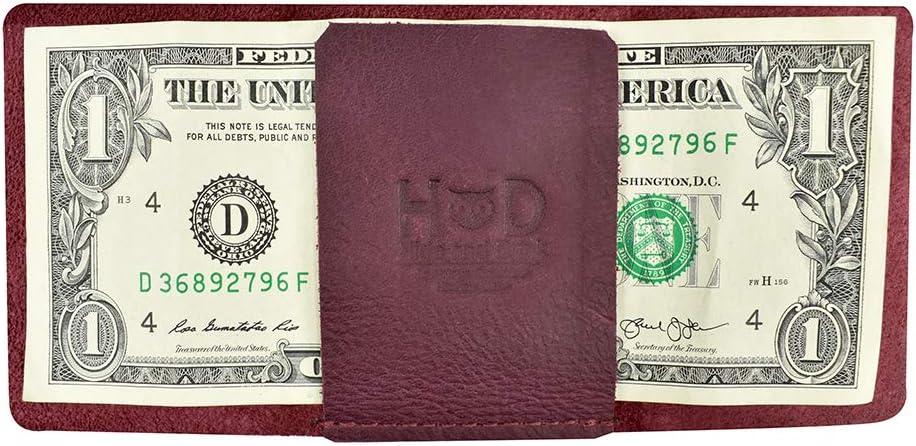 Hide & Drink, Leather Ultra Minimalist Wallet, Bills Only, Cash Organizer, Everyday Accessories, Handmade :: Sangria