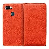 LOOF Casual OPPO AX7 ケース手帳型 カバー スマホケース 横入れカード収納付 スタンド機能付 (オレンジ)