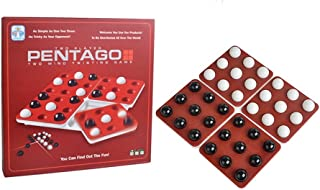 ULT-unite 3D Wooden Cube Brain Teaser Puzzle (Pentago Game)