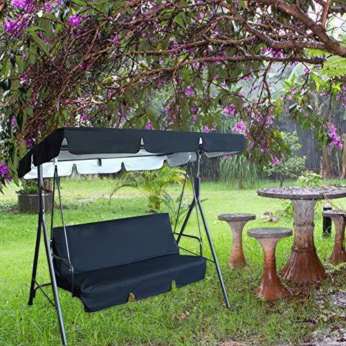 Guanglongli 3 Seater Swing Hammock Garden, Swing Seat Cushion, with Sun roof and Reclining Function,Fabric Tarpaulin Garden Furniture, Garden Swing for Patio, Mehrere Farboptionen