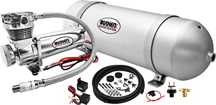 Vixen Air Suspension Kit for Truck/Car Bag/Air Ride/Spring. On Board System- 200psi Compressor, 3 Gallon Aluminum Tank. for Boat Lift,Towing,Lowering,Load Leveling Bags,Train Horn,Semi/RV VXO4830C