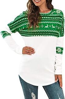 Sudaderas Navidad Jersey de Mujer Pullover de Fiesta Cómodos Jerseys Casuales Estampada Caliente Suéter Ropa de Invierno T...