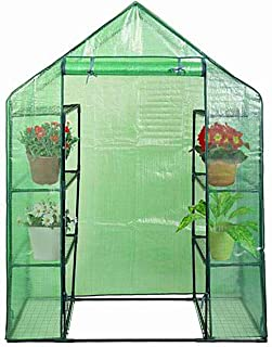 Giantex Mini Portable Walk-in Plant Greenhouse for Outdoors/Indoors 4 Tier 8 Shelves Garden Green House