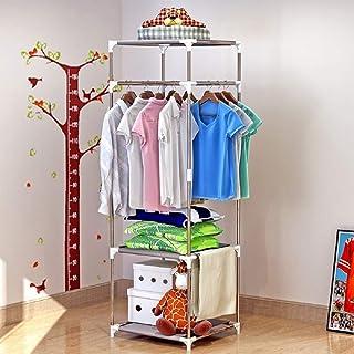 Armoire de séchage de vêtements suspendus, étagères de rangement de vêtements à 3 niveaux, unité de rayonnage réglable pou...