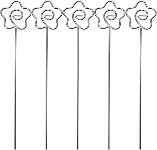 TOPBATHY Metal Photo Clip Holders Flower Shape Table Card Stand for Wedding Party 50pcs