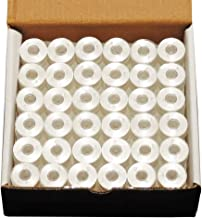 144 White PreWound Bobbins for Embroidery Machines Size A (SA156) Plastic Sided for Brother, Babylock, Janome Embroidery Machines