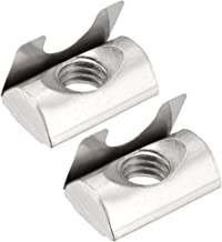 uxcell Roll in Spring M8 T Nuts,3030/4040 Series Universal with Spring Sheet for 8mm Slot Aluminum Profile, Pack of 15