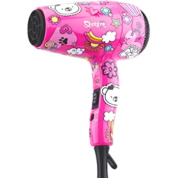 Deogra Travel Hair Dryer for Kids Portable Mini Hair Dryer Dual Voltage for International Use Foldable Compact Blow Dryer with Diffuser and