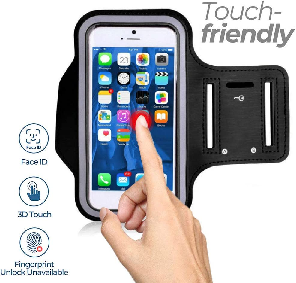 LISRUI Running Armband Climbing Phone Holder for iPhone XS XR X 8 7 6s 6 Galaxy S10//S9//S8 Comfortable Leather Case Package Sweatproof Bag with Key Holder /& Extension Strap large screens 4.9-5.8